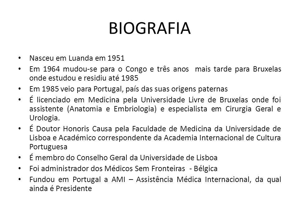 BIOGRAFIA Nasceu em Luanda em 1951