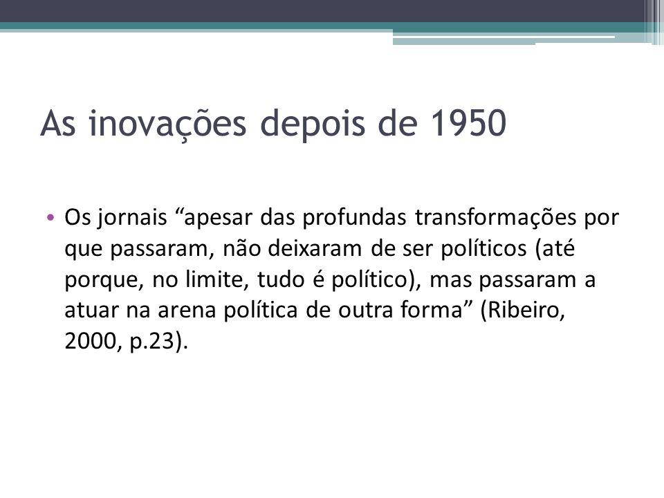 As inovações depois de 1950