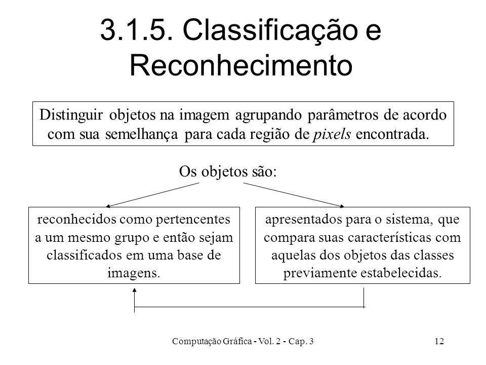 3.1.5. Classificação e Reconhecimento