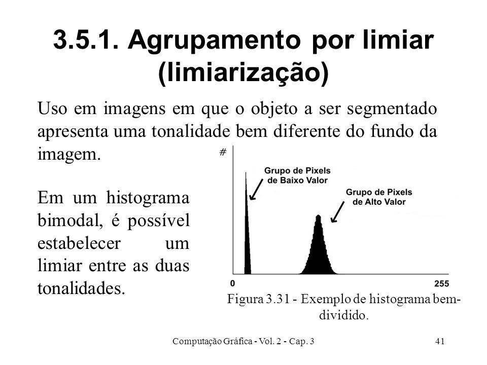 3.5.1. Agrupamento por limiar (limiarização)