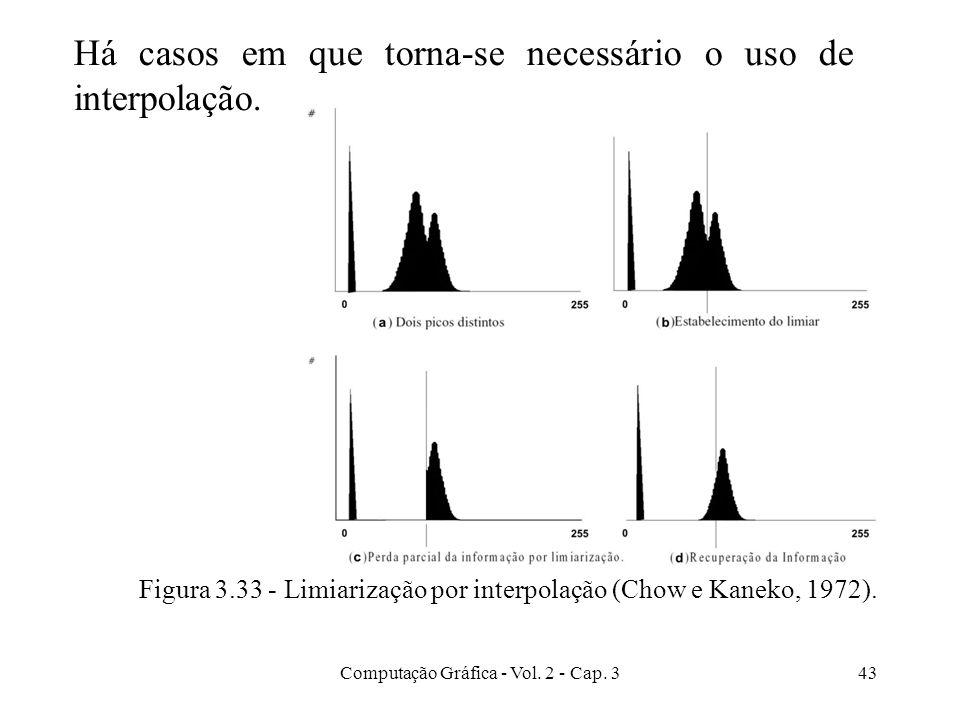 Há casos em que torna-se necessário o uso de interpolação.
