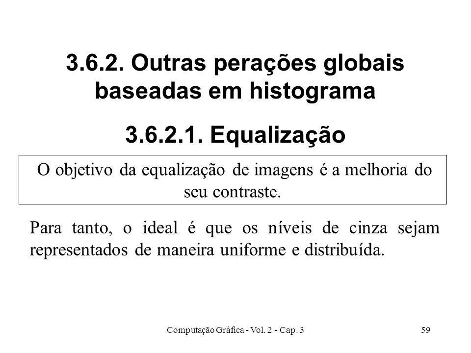 3. 6. 2. Outras perações globais baseadas em histograma 3. 6. 2. 1