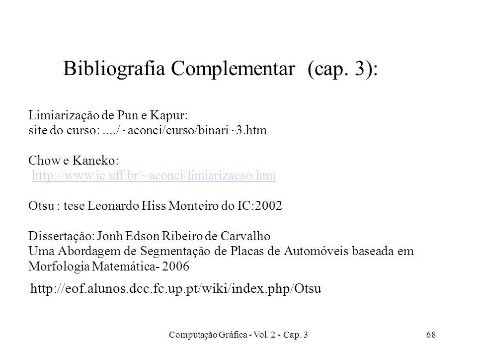 Bibliografia Complementar (cap. 3):