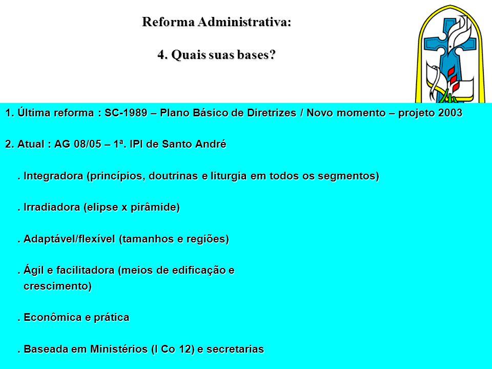 Reforma Administrativa: 4. Quais suas bases