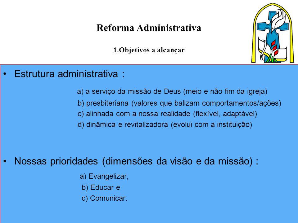 Reforma Administrativa 1.Objetivos a alcançar