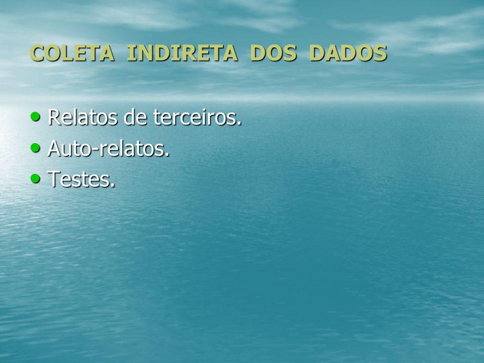 COLETA INDIRETA DOS DADOS