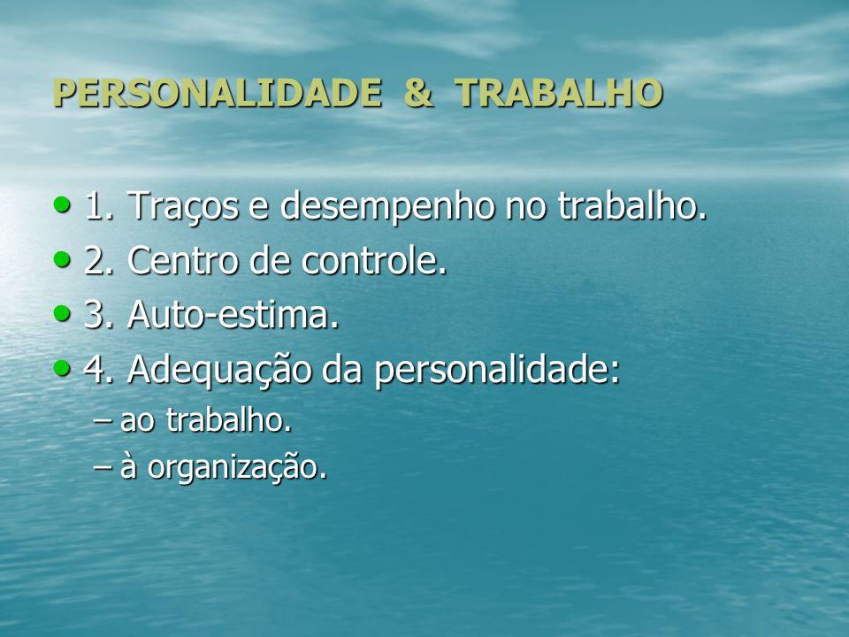 PERSONALIDADE & TRABALHO