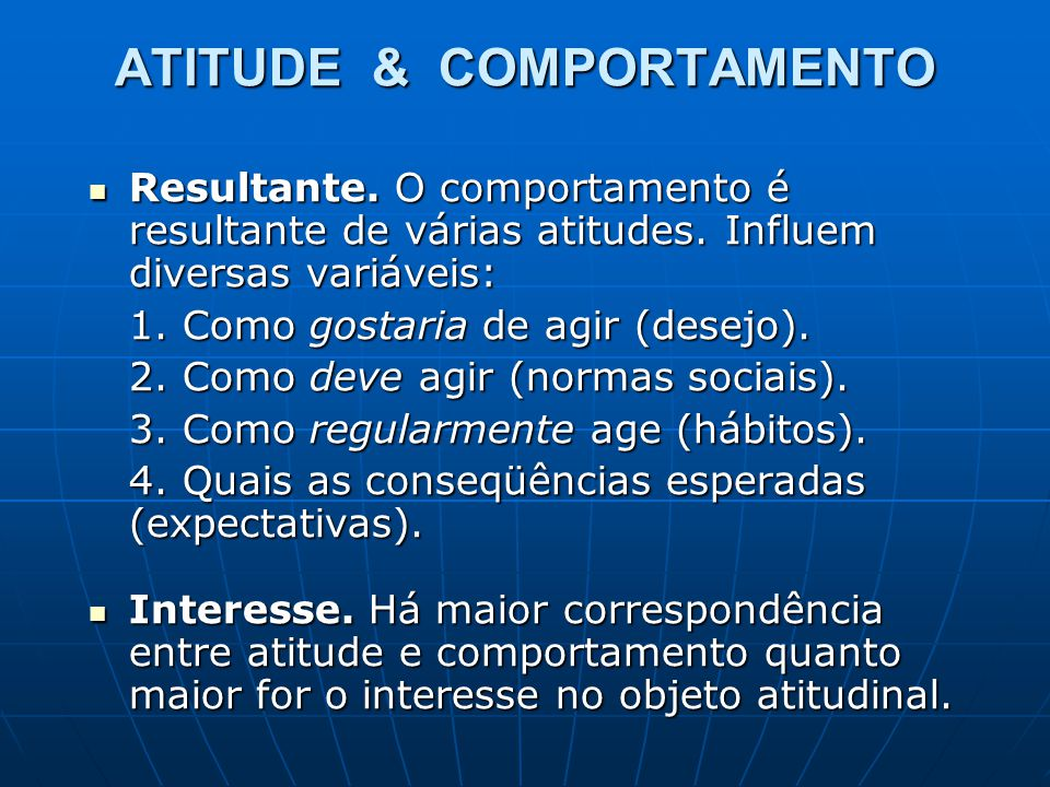 ATITUDE & COMPORTAMENTO