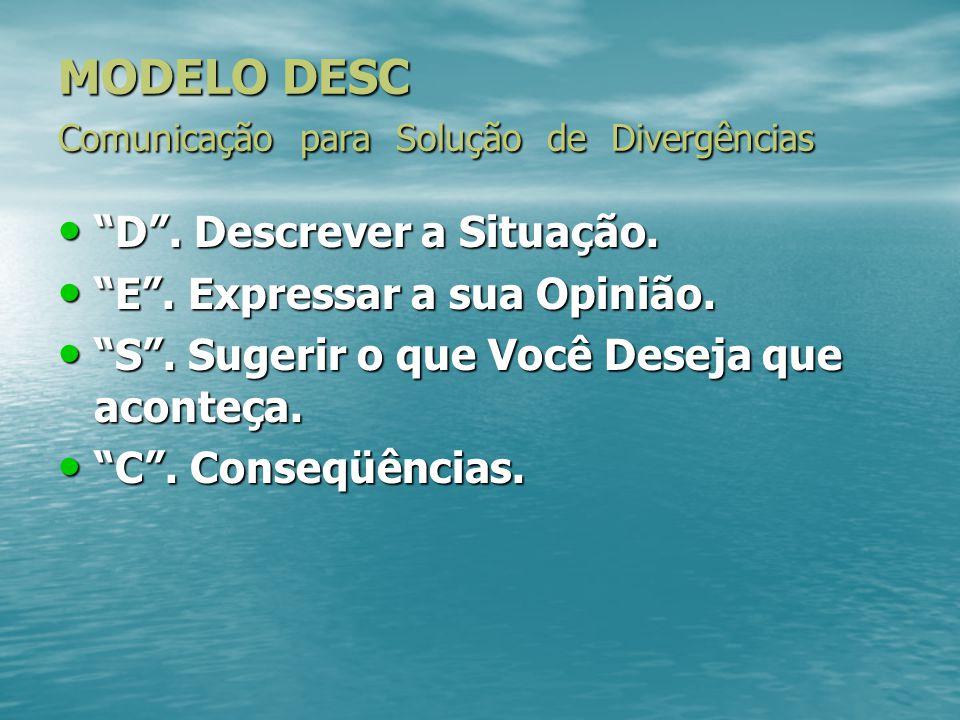 MODELO DESC Comunicação para Solução de Divergências