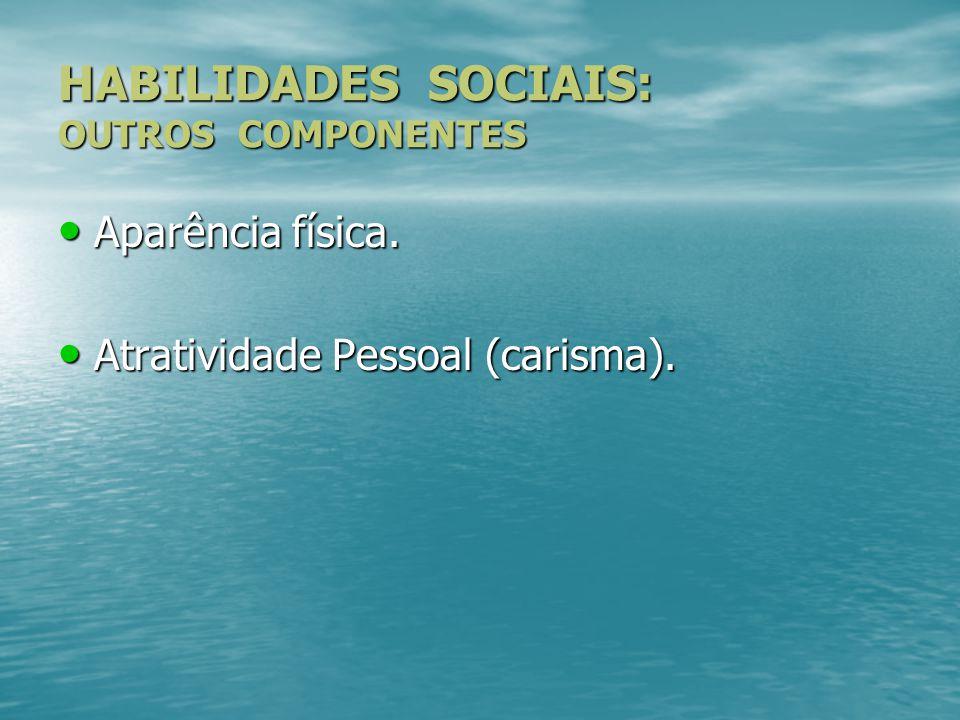 HABILIDADES SOCIAIS: OUTROS COMPONENTES