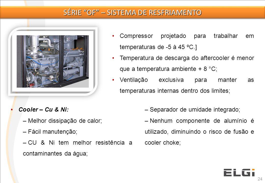Série of – sistema de resfriamento