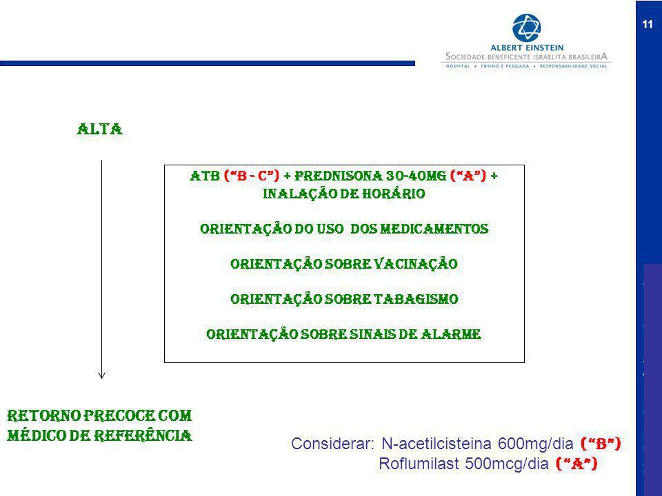 ALTA RETORNO PRECOCE COM MÉDICO DE referência