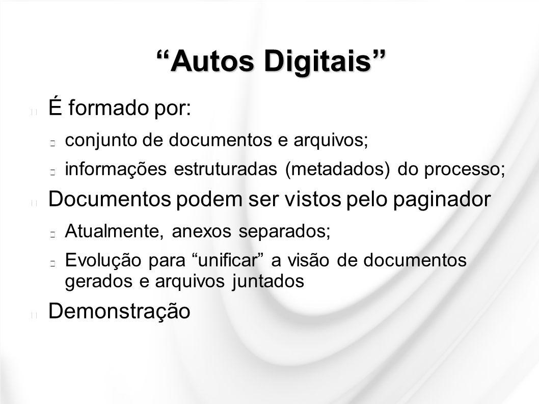 Autos Digitais É formado por: