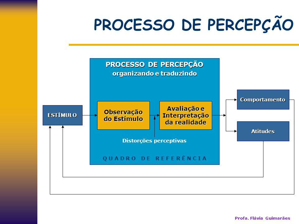 PROCESSO DE PERCEPÇÃO PROCESSO DE PERCEPÇÃO organizando e traduzindo