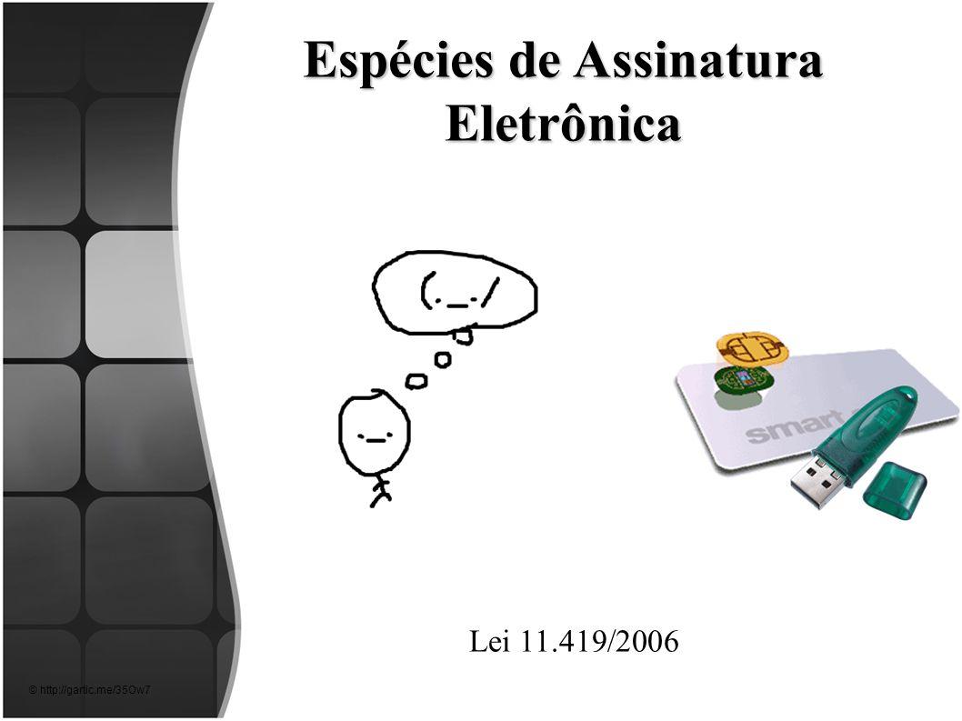 Espécies de Assinatura Eletrônica