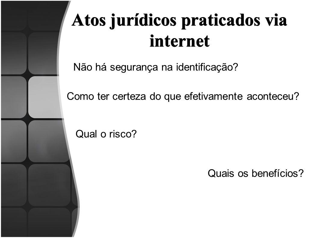 Atos jurídicos praticados via internet