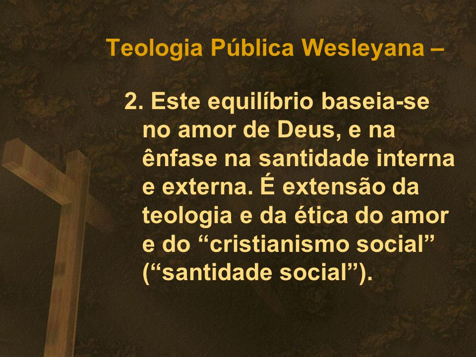 Teologia Pública Wesleyana –
