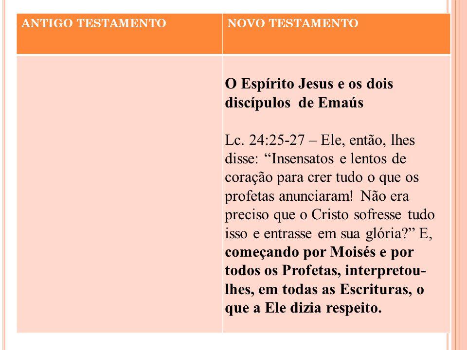 O Espírito Jesus e os dois discípulos de Emaús