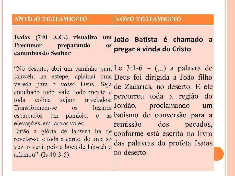 João Batista é chamado a pregar a vinda do Cristo