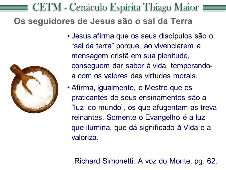 Os seguidores de Jesus são o sal da Terra