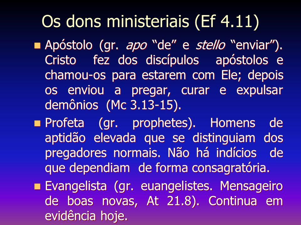 Os dons ministeriais (Ef 4.11)