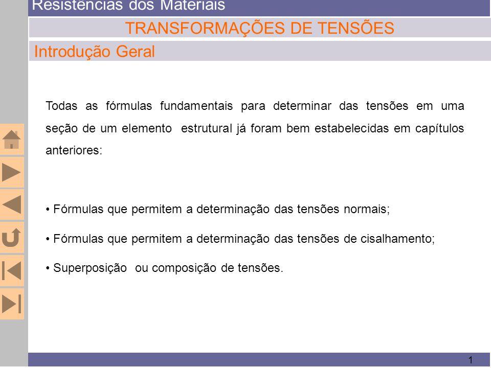 TRANSFORMAÇÕES DE TENSÕES