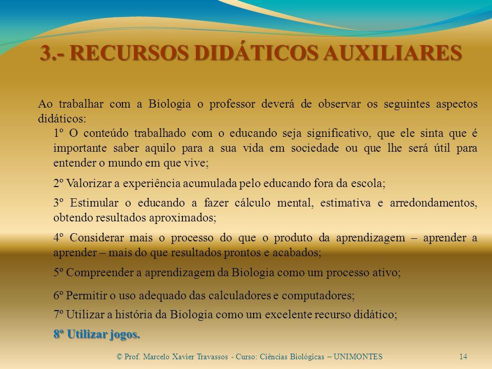 3.- RECURSOS DIDÁTICOS AUXILIARES