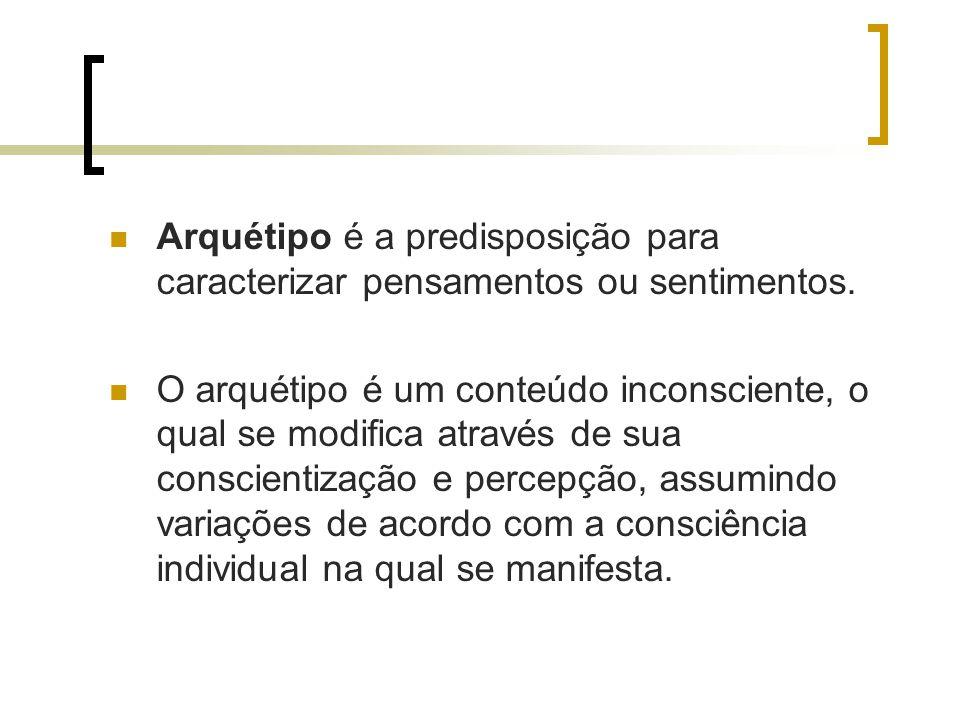 Arquétipo é a predisposição para caracterizar pensamentos ou sentimentos.