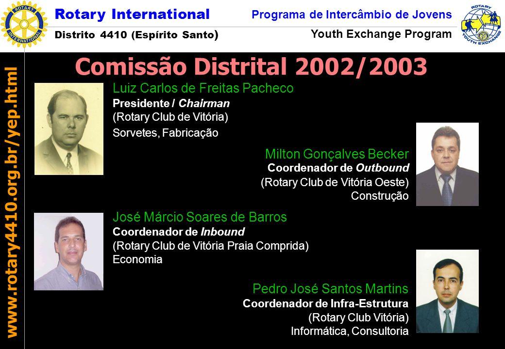 Comissão Distrital 2002/2003 Luiz Carlos de Freitas Pacheco