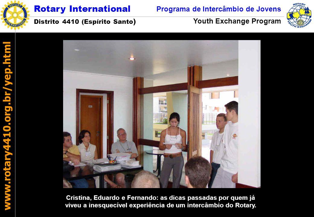 Cristina, Eduardo e Fernando: as dicas passadas por quem já viveu a inesquecível experiência de um intercâmbio do Rotary.