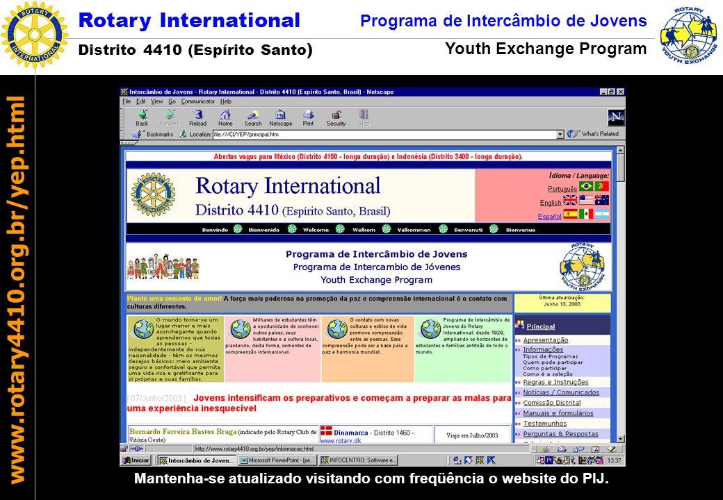 Mantenha-se atualizado visitando com freqüência o website do PIJ.