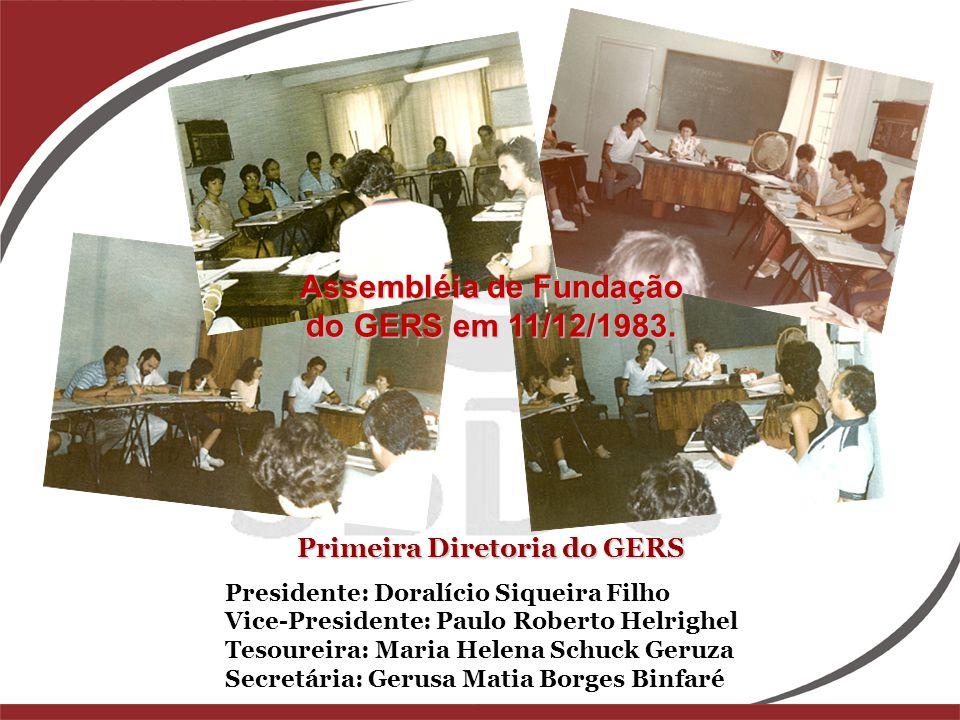 Assembléia de Fundação do GERS em 11/12/1983.