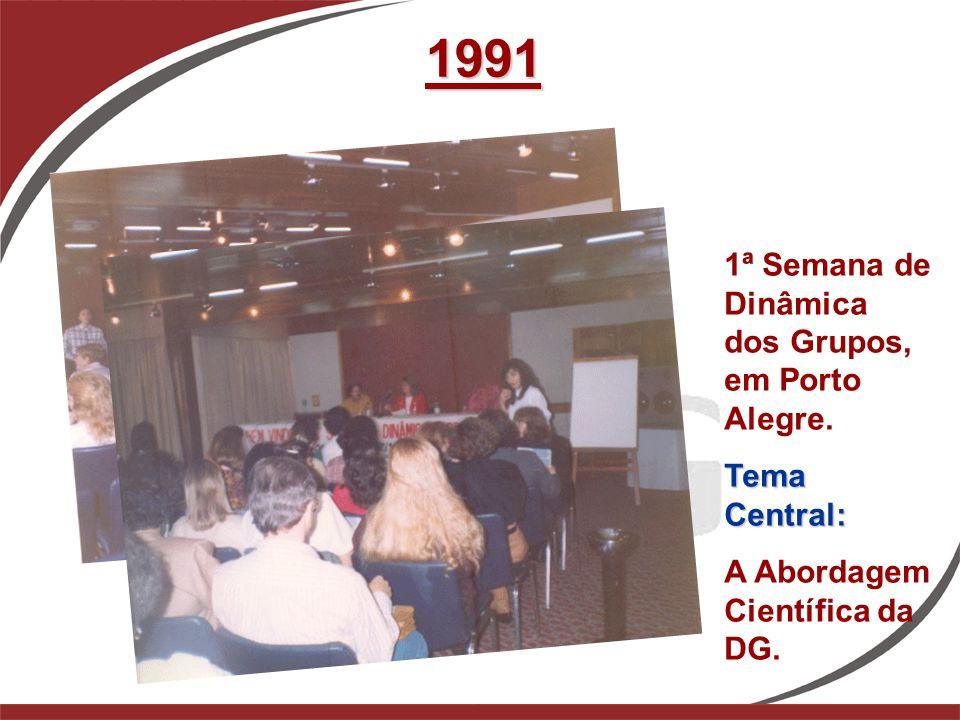 1991 1ª Semana de Dinâmica dos Grupos, em Porto Alegre. Tema Central: