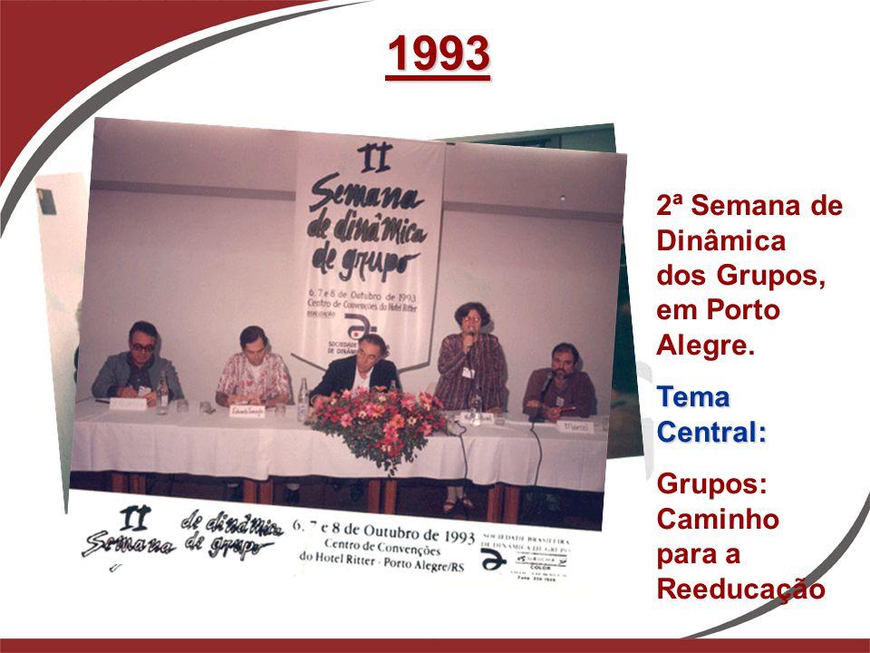 1993 2ª Semana de Dinâmica dos Grupos, em Porto Alegre. Tema Central: