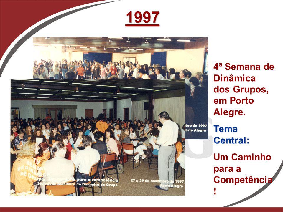 1997 4ª Semana de Dinâmica dos Grupos, em Porto Alegre. Tema Central: