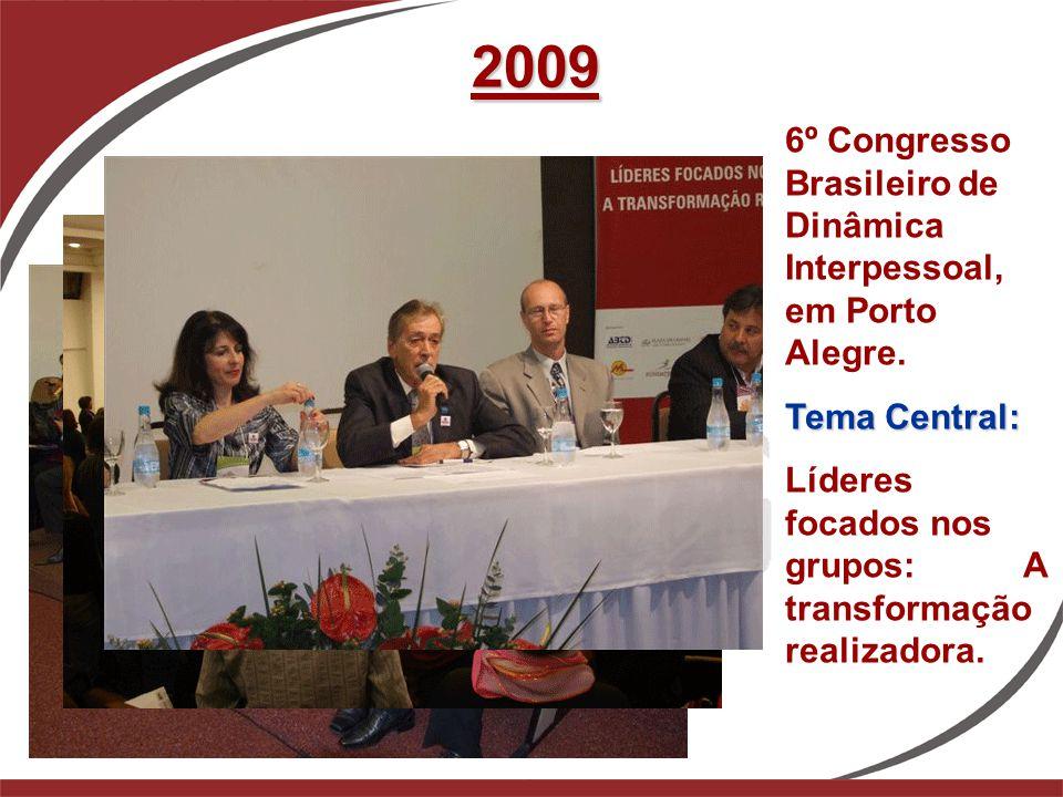 2009 6º Congresso Brasileiro de Dinâmica Interpessoal, em Porto Alegre. Tema Central:
