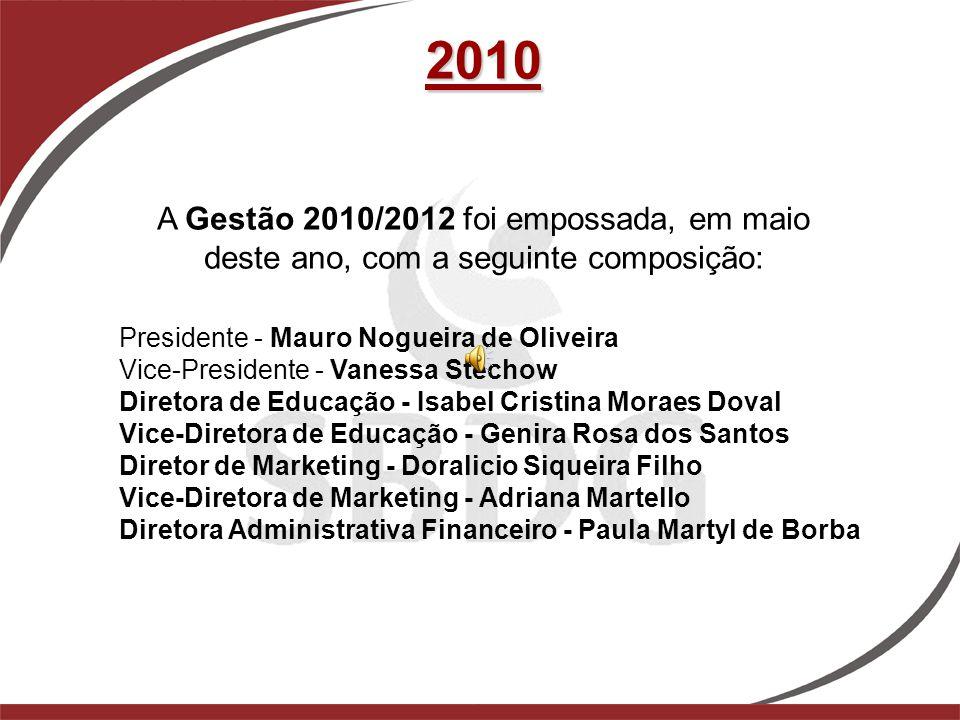 2010 A Gestão 2010/2012 foi empossada, em maio deste ano, com a seguinte composição: Presidente - Mauro Nogueira de Oliveira.