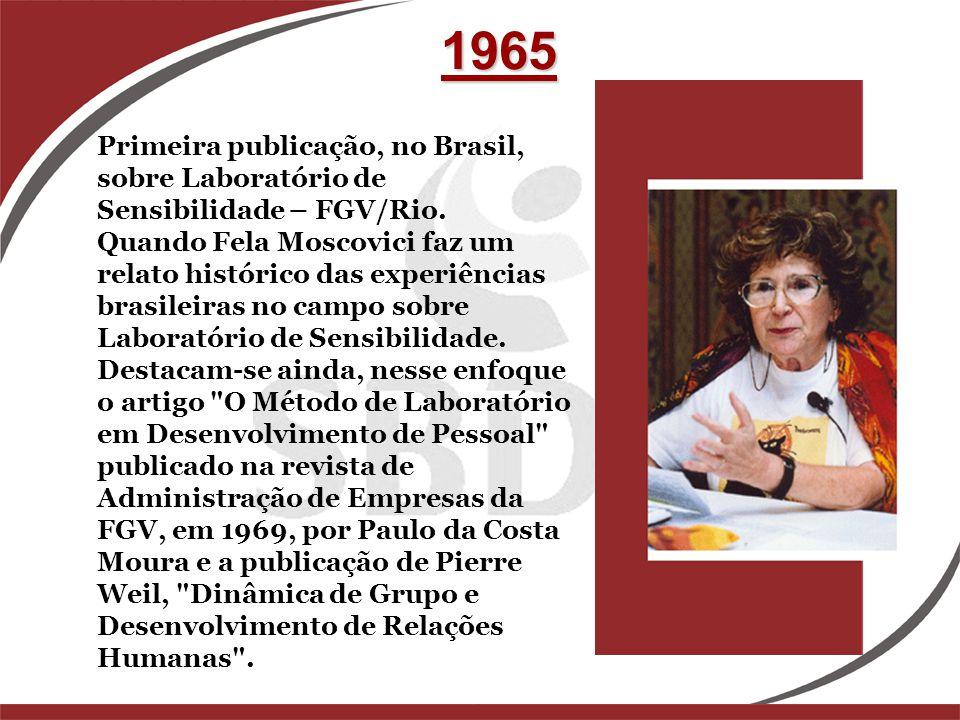1965 Primeira publicação, no Brasil, sobre Laboratório de Sensibilidade – FGV/Rio.