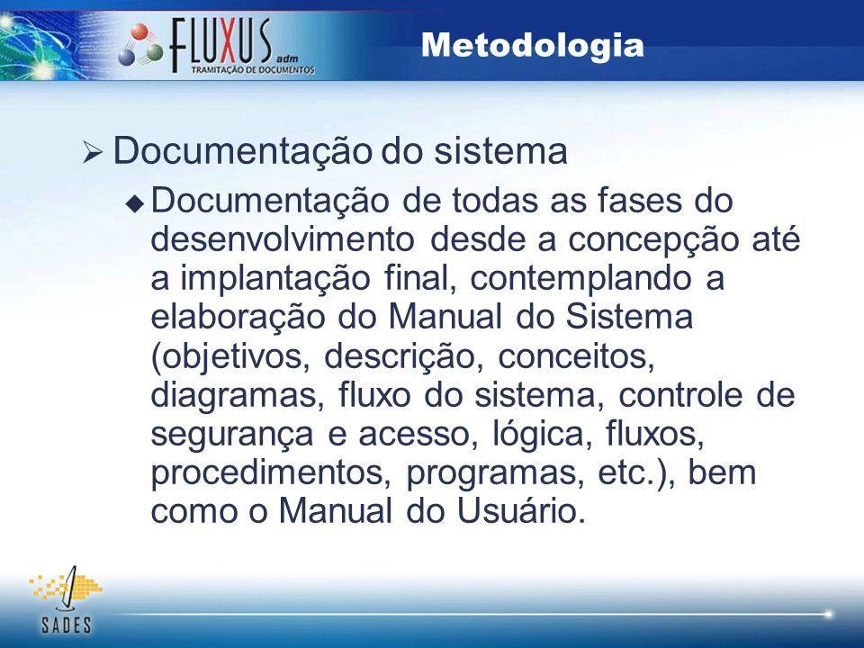 Documentação do sistema