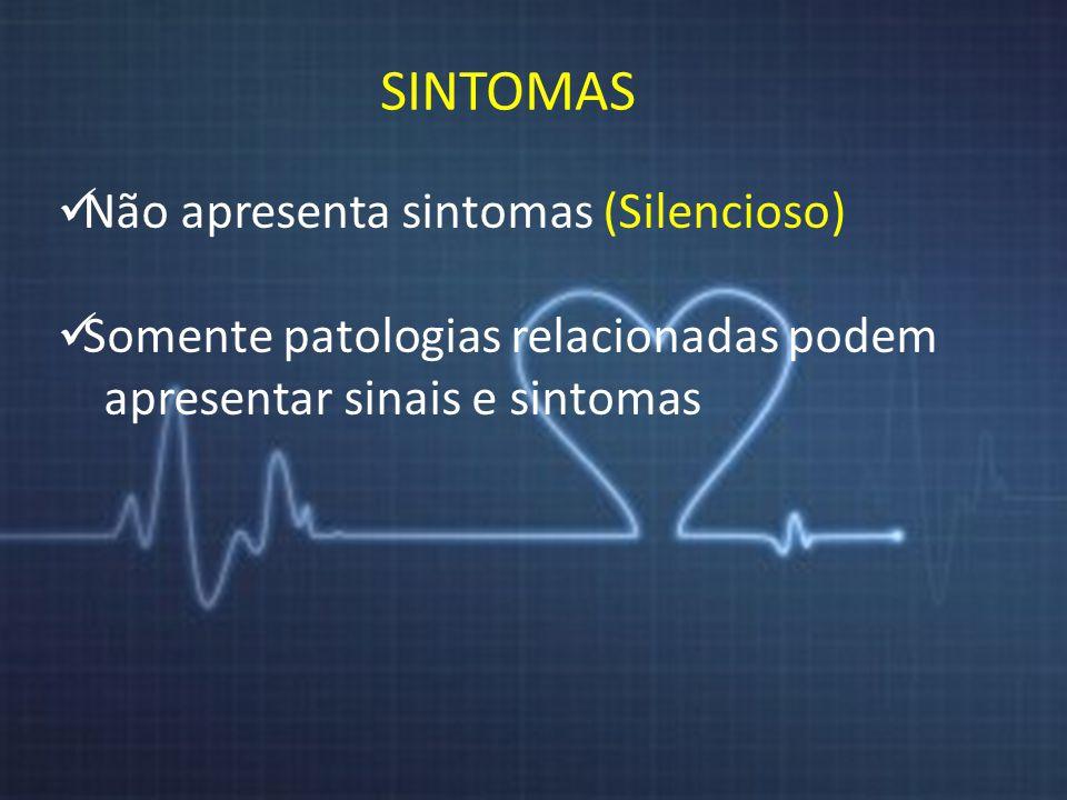 SINTOMAS Não apresenta sintomas (Silencioso)