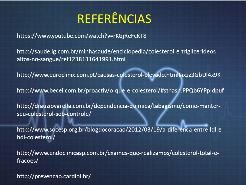 REFERÊNCIAS https://www.youtube.com/watch v=rKGjReFcKT8