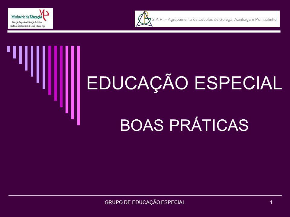 EDUCAÇÃO ESPECIAL BOAS PRÁTICAS