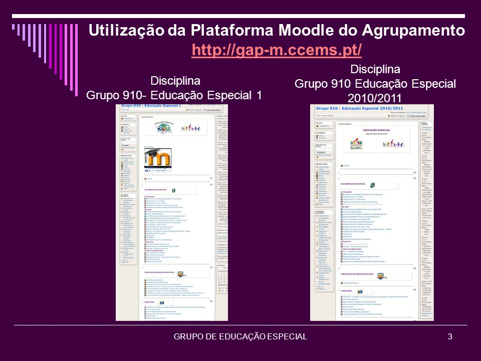 Utilização da Plataforma Moodle do Agrupamento