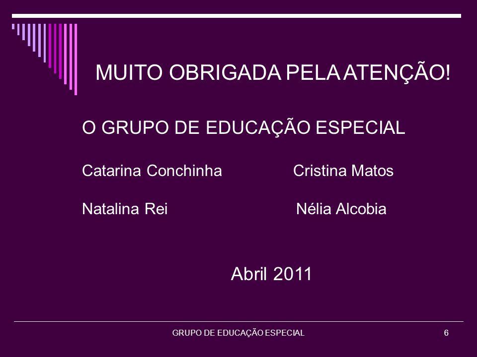 GRUPO DE EDUCAÇÃO ESPECIAL