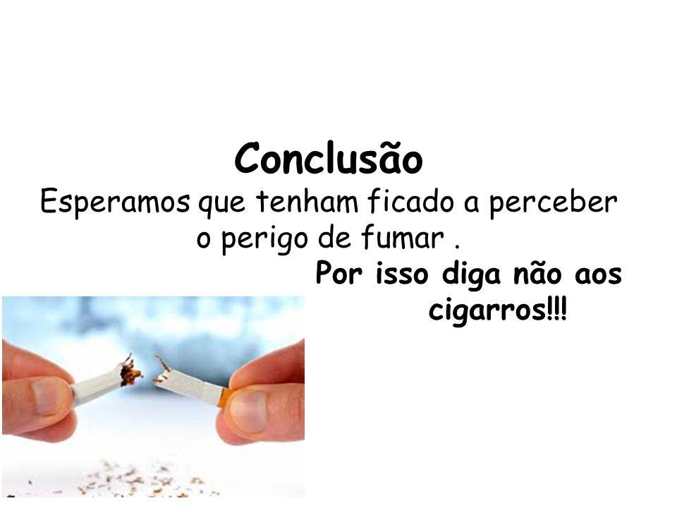 Conclusão Esperamos que tenham ficado a perceber o perigo de fumar