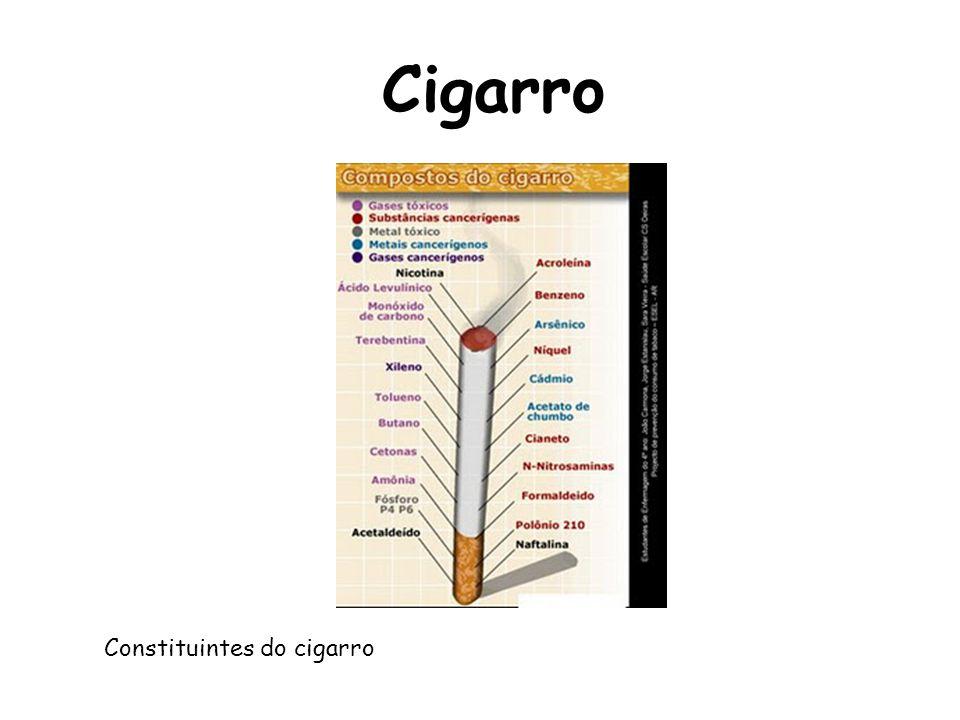 Cigarro Constituintes do cigarro