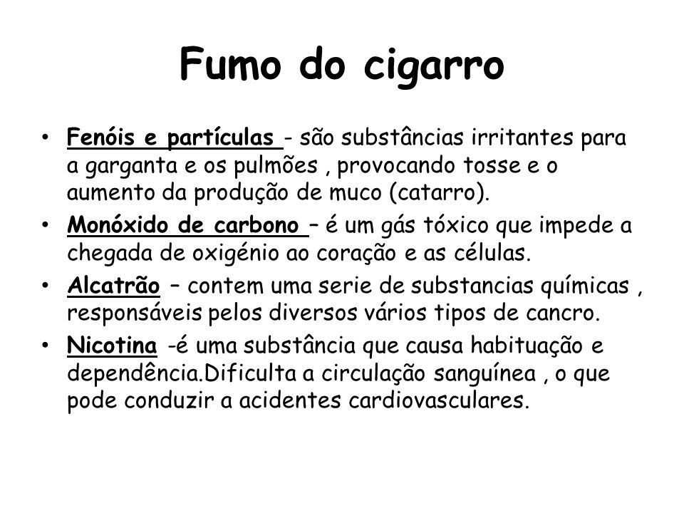 Fumo do cigarro