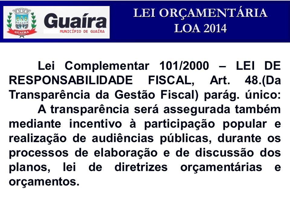Lei Complementar 101/2000 – LEI DE RESPONSABILIDADE FISCAL, Art. 48