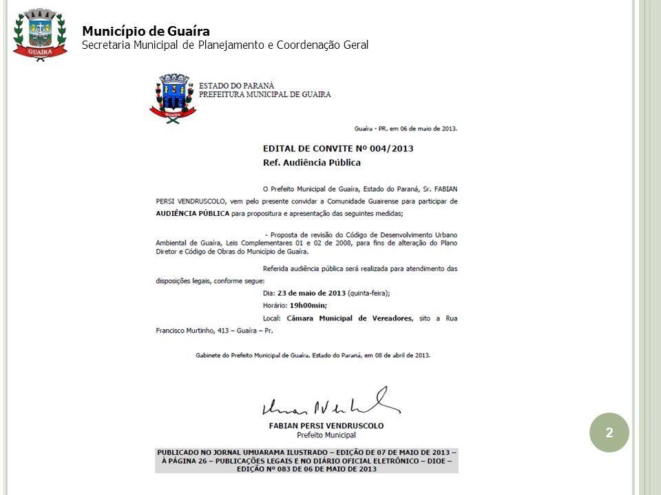Setembro 2010 Município de Guaíra