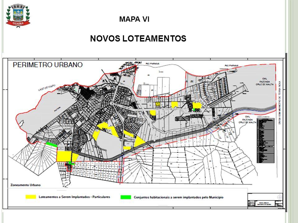 MAPA VI NOVOS LOTEAMENTOS Setembro 2010
